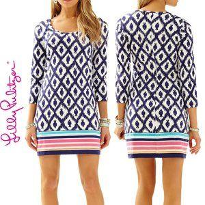 Lily Pulitzer Beacon T Shirt Dress Navy Fish Sz XS